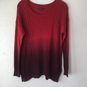 American Eagle Sweater Red to Burgundy Sweater